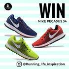 Running Life Nike Pegasus 34 Giveaway (06/27/2017) {USA UK EU AUS NZ}