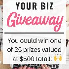 Enter to win 1 of 25 prizes to improve your handmade business {WW} (11/08/2018)