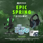 Epic Spring Giveaway: DXRacer Gaming Chair Logitech G633 Artemis Spectrum Gaming Headset 10,000 Fortnite V-Bucks $100 INTO THE AM Store Credit 04/17 {??}