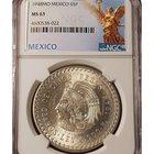 Coin Giveaway # 250 1948 Mo MEXICO SILVER 5 PESOS CUAUHTEMOC NGC MS 63 11/4/18 {US}
