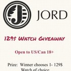Win a Jord Wooden Watch (2/9/16)