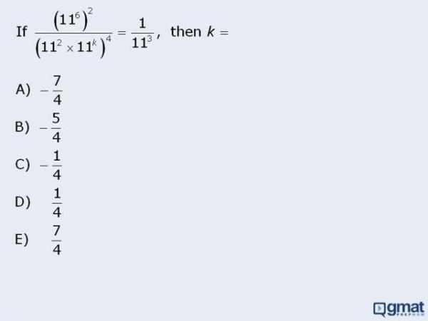 GMAT Math Practice Question - Exponents - Equation with ...