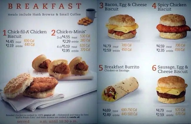 Fil Breakfast Menu Chick