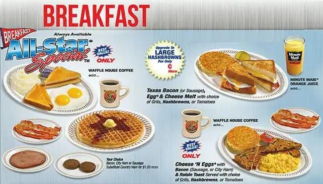 Waffle House 5 Dollar Menu
