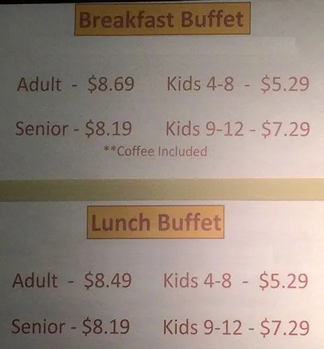 Lunch Menu Golden Corral