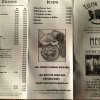 Scanned Menu For Living Room Coffeehouse College Area San Go Urbanspoon Zomato