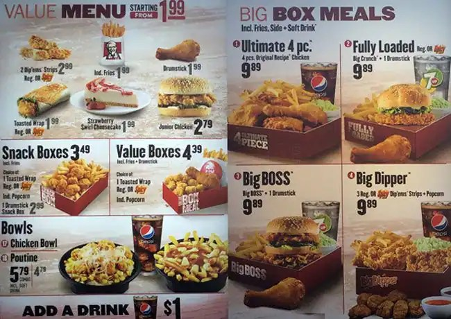 Menu Kfc List Philippines Price And