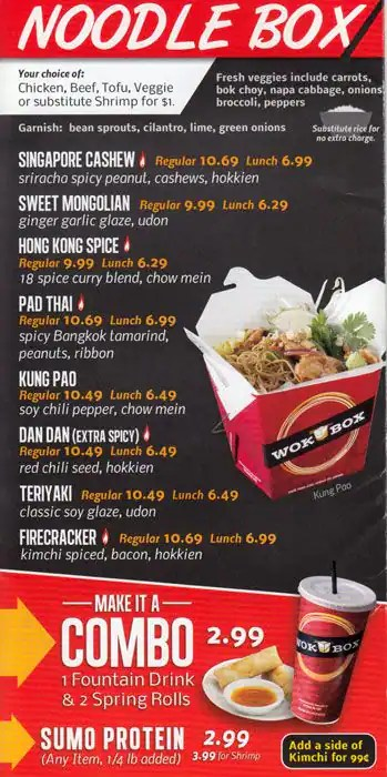 Lunch Box Menu Zomato