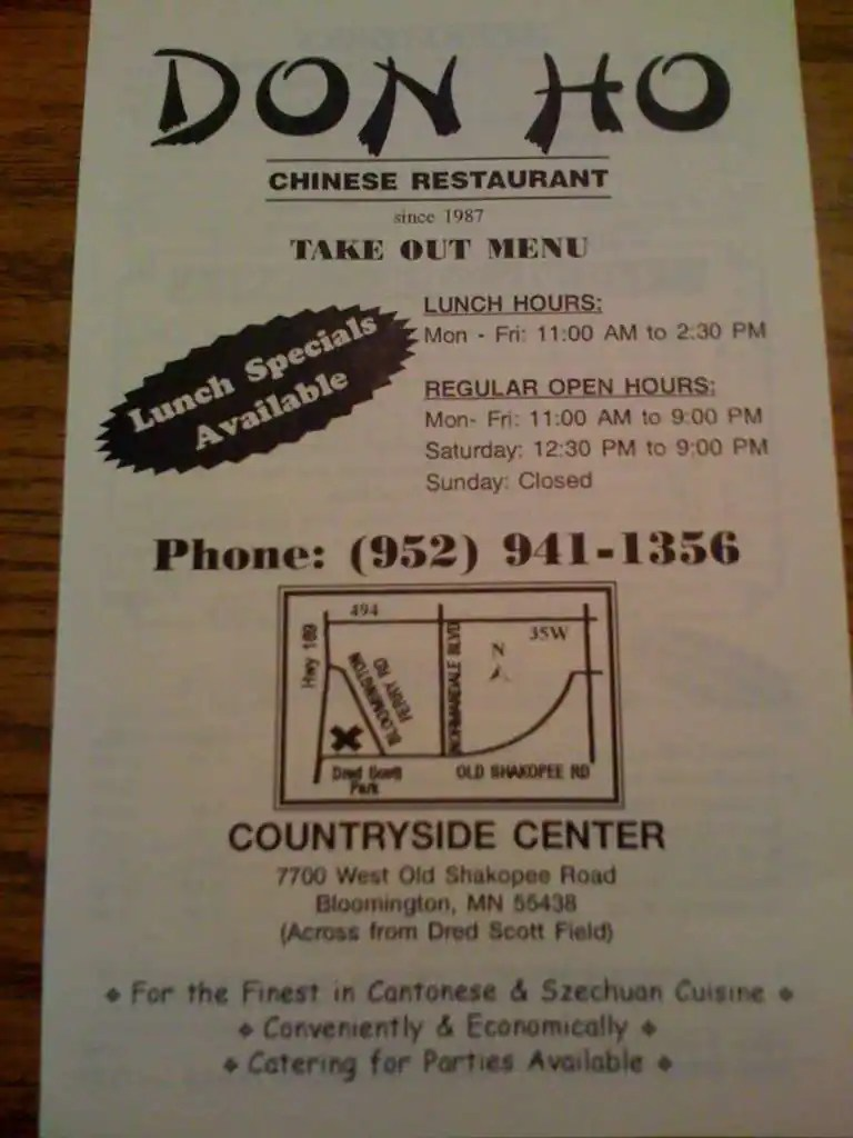 Do Restaurant Bloomington Menu