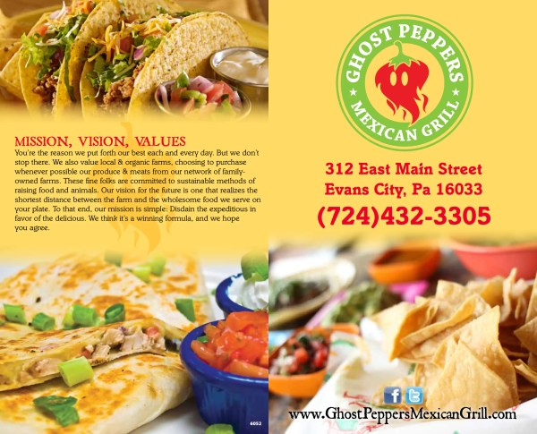 Ghost Peppers Mexican Grill Menu - Urbanspoon/Zomato