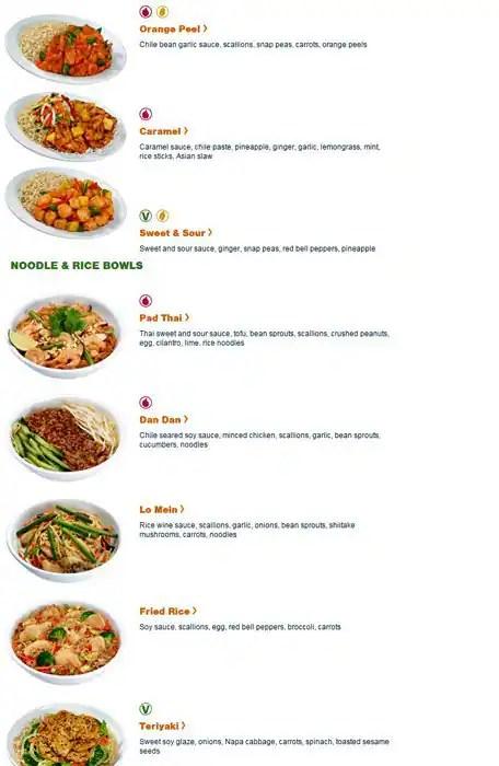 Pei Wei Restaurant Menu