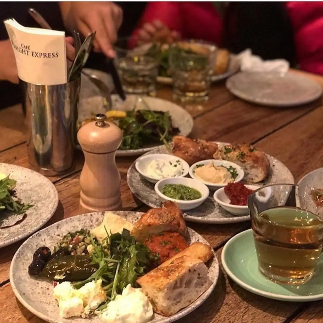 Favourite Eateries In Auckland and Delivery Guide: Mediterranean food dishes at Cafe Midnight Express