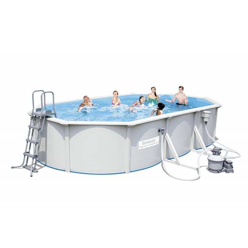 piscine en kit ovale en acier 500x360x120 cm hydrium bestway