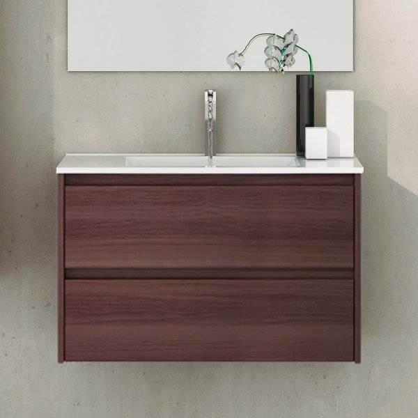 meuble avec plan vasque de profondeur reduite 60 frene tea ibiza tegler
