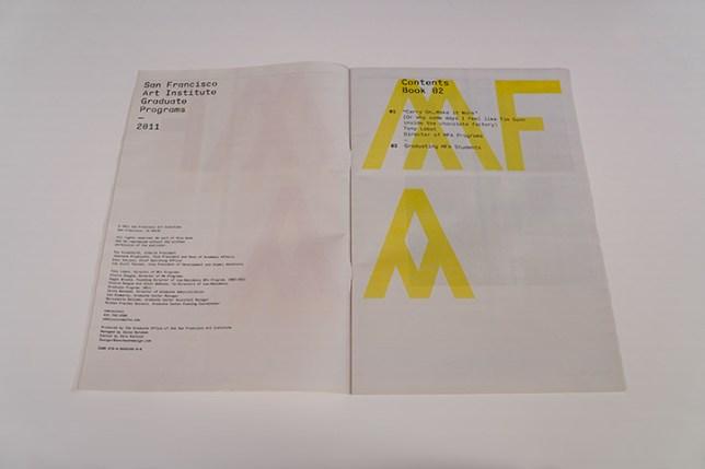 San Francisco Art Instituteの学校案内パンフレット