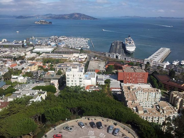 View from Coit Tower in San Francisco