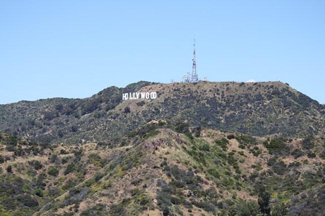 グリフィス天文台から見たハリウッドサイン (The Hollywood Sign seen from Observatory)