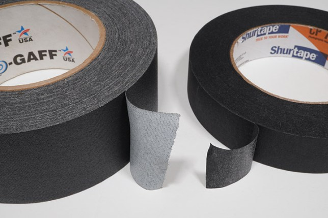 Gaffer Tape and Photo Black tape