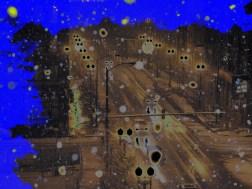 Blue smoked street
