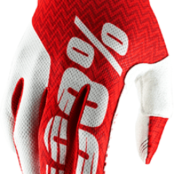 100% – Guanto iTRACK Red/White