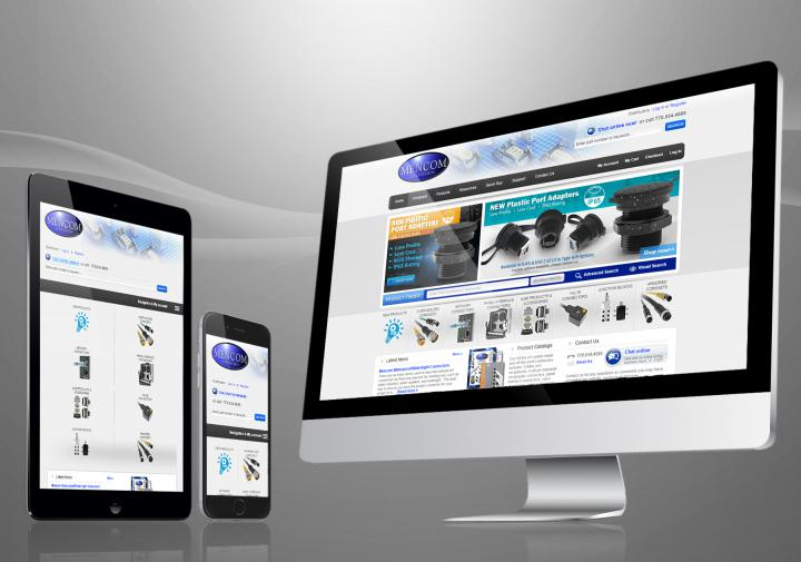 Mencom responsive website
