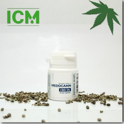 Medocann 5% CBD kaps 20 (k)