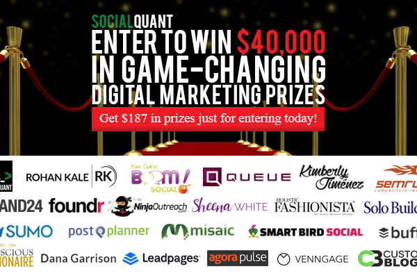 Get $187 in prizes just for entering the Social Quant Business Boost Bonanza