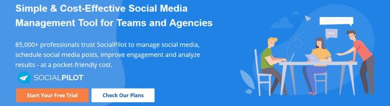 Social content scheduling tool - Social Pilot