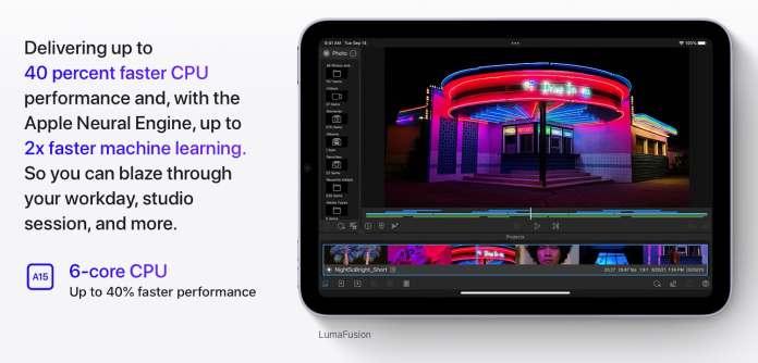 iPad mini 2021 CPU