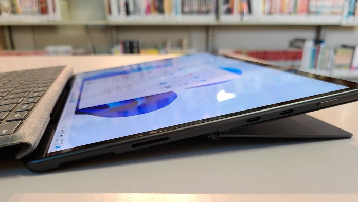 Microsoft Surface Pro 8 right side reclined