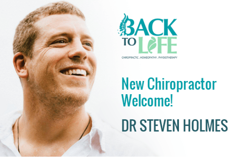 New Chiropractor Welcome – Dr Steven Holmes Joins Back II Life