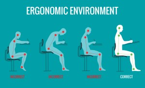 Back Pain at work - Create ergonomic physical environments and workspaces.