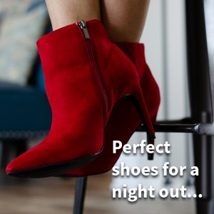 Red booties shoes