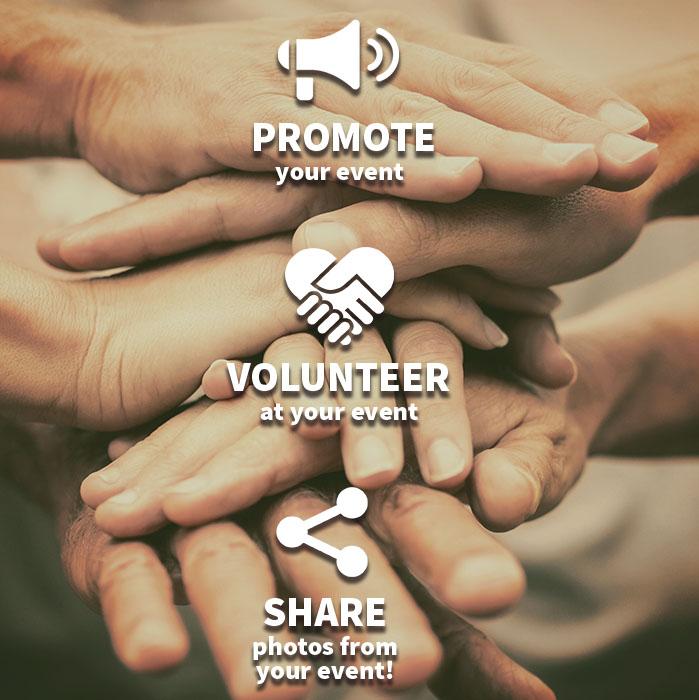 share promote HANDS TOGETHER