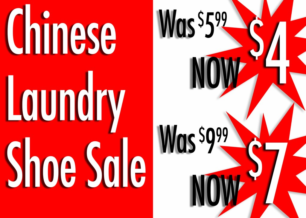 Chinese Laundry Shoe sale