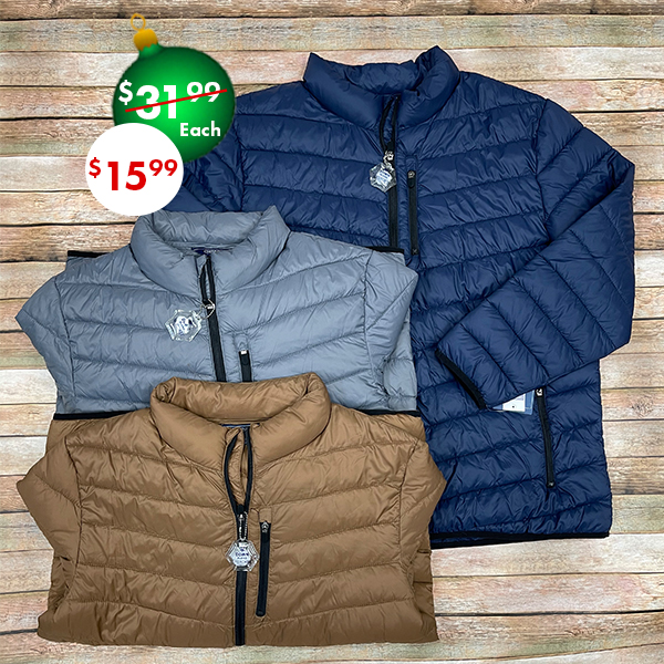 50% off, On sale men's winter coats and jackets