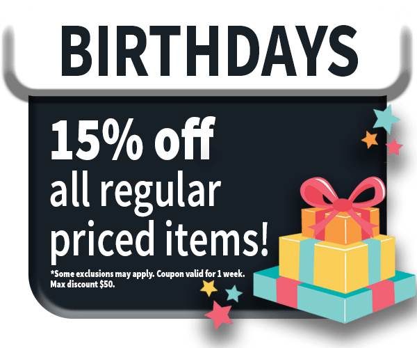 15% off for your birthday