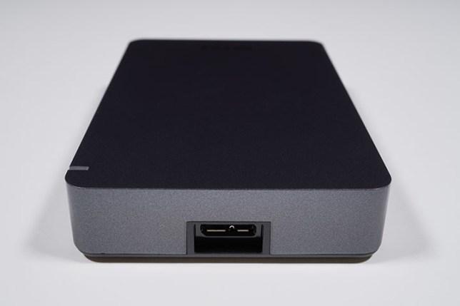 BUFFALO ポータブルHDD HD-PGF4.0U3-GBKA-コネクター