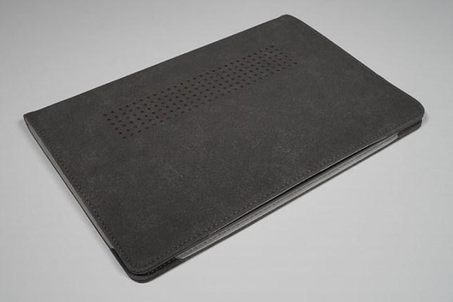 KOOL RIVER MacBook Air 13.3インチ用 手帳型 レザー ケース/カバー 閉じた状態 裏