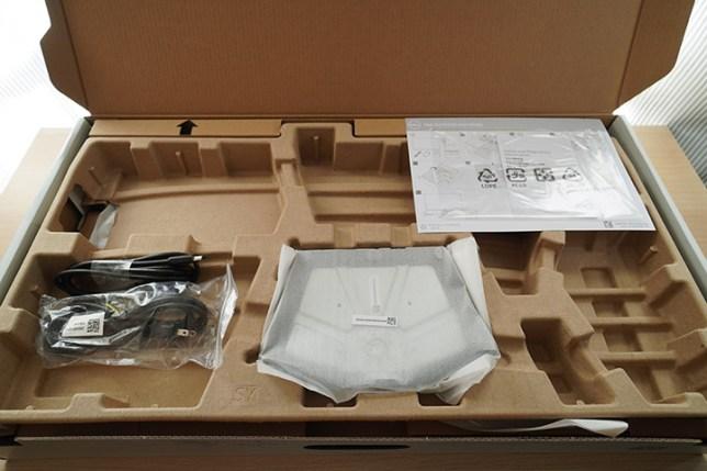 Dell 4K ワイドモニター 27インチ S2721QS 開封