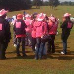 Pink cowboy hats were abundant!