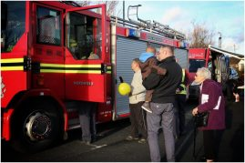Northfield fire station brought fire engines