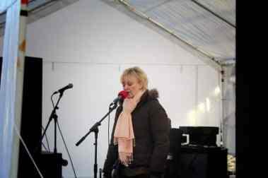Valma from Eternal Life Church entertains with Christmas Carols