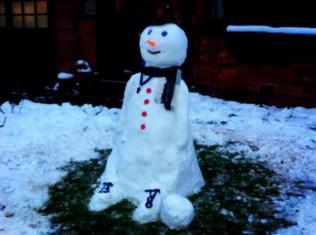 snowfootballer by Gemma Millward