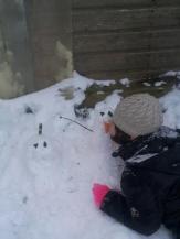Mum2dragon's little girl loves her snowmen!
