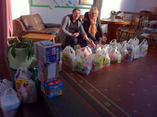 Food parcels prepared by Life Line Food Bank | Image by Marion Kenyon