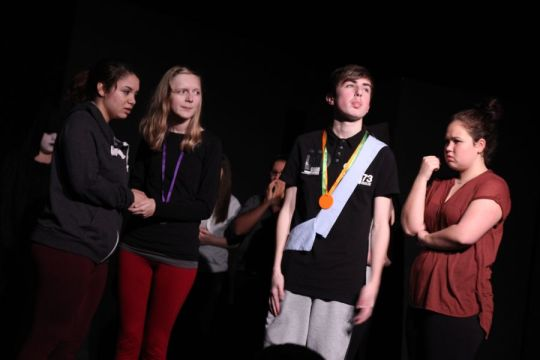 A school company led by Fourth Wall Theatre Network