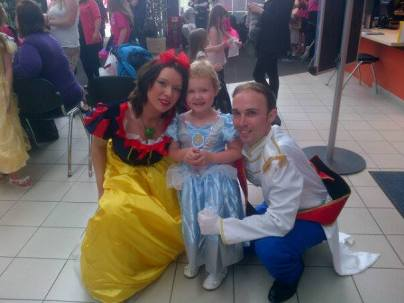 "Matt ""Prince Charming"" and Snow White with one of the hair cutters"