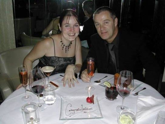 Lisa & Bill on their engagement 6 years ago at Gordon Ramsey's in NYC