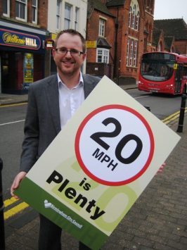 Cllr James McKay promotes  20 is Plenty